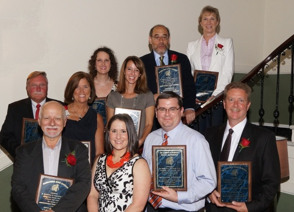 Photo of honorees after being inducted into the 2013 Massapequa High Schools Hall of Fame.